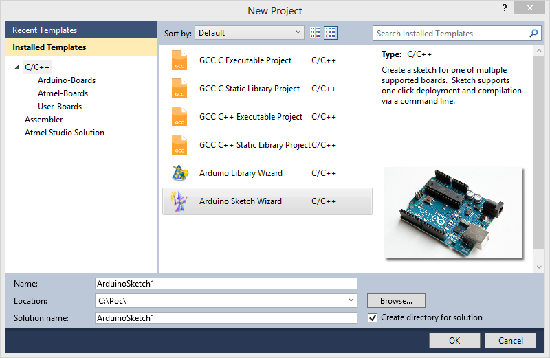 Arduino template express creating a sketch omar francisco