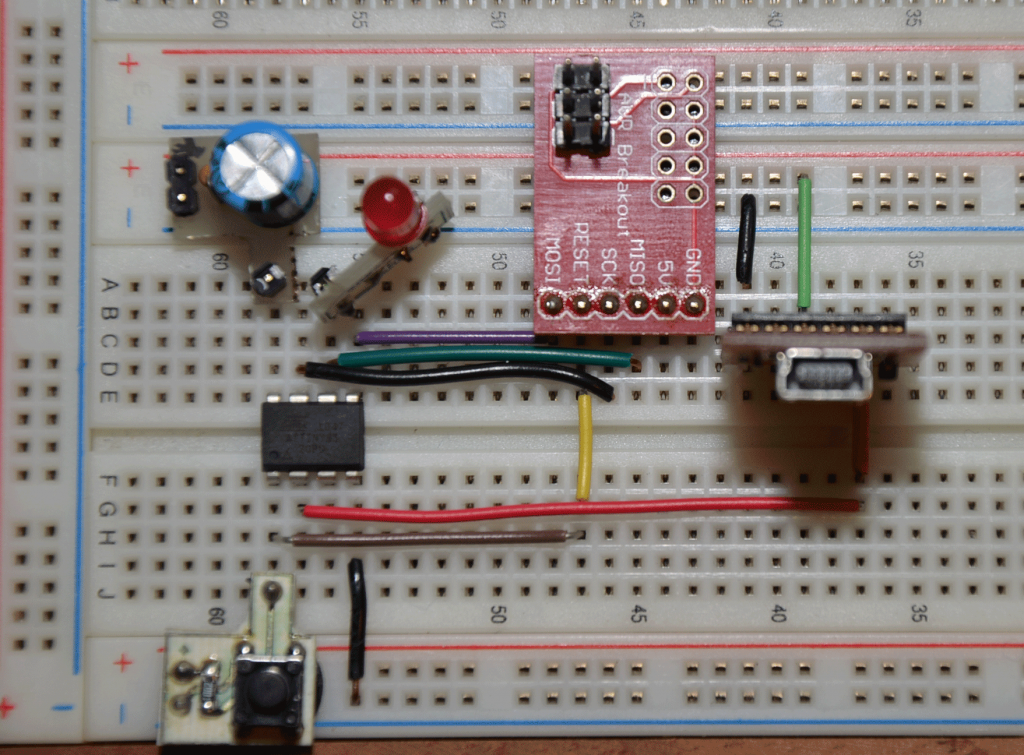 ATTiny85 Breadboard Implemenation